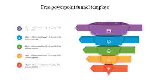 Free powerpoint funnel template with animation