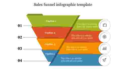 Editable sales funnel infographic template