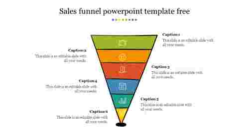 Sales funnel powerpoint template free download