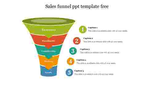 Creative sales funnel ppt template free download