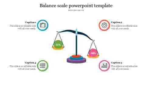 Bestbalancescalepowerpointtemplate