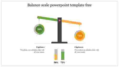 Balancescalepowerpointtemplatefreeslide
