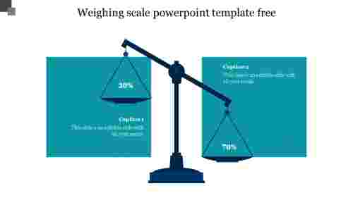 Editable%20weighing%20scale%20powerpoint%20template%20free%20slide