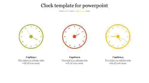 Clock template for powerpoint presentation