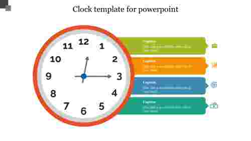 Best Clock template for powerpoint slide