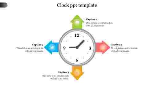 Best clock ppt template