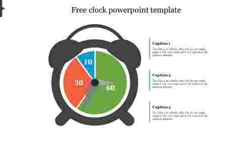 free clock powerpoint template for presentation