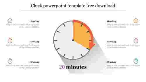 Editable clock powerpoint template free download