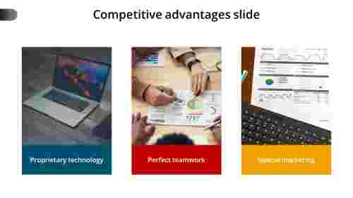 competitive advantage slide template