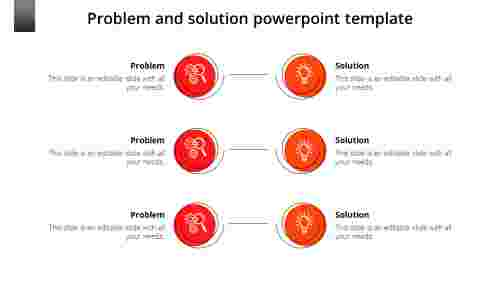 Creative problem and solution powerpoint template