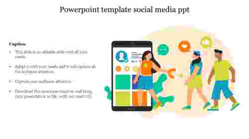 Creative powerpoint template social media ppt
