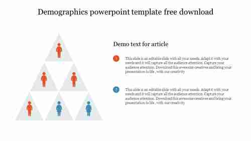 Demographics powerpoint template free download