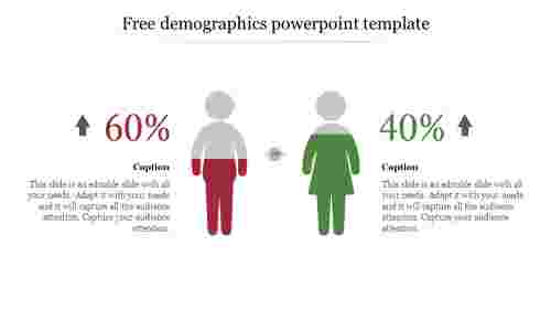 Free demographics powerpoint template