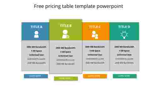 free pricing table template powerpoint