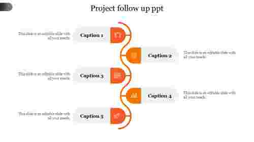 Project follow up ppt-Orange
