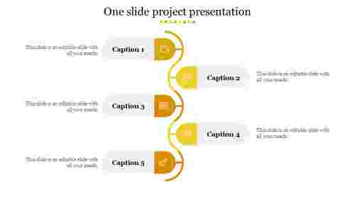 one slide project presentation-Yellow