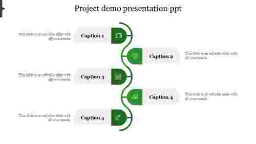 project demo presentation ppt-Green