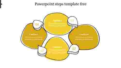 powerpoint steps template free-Yellow