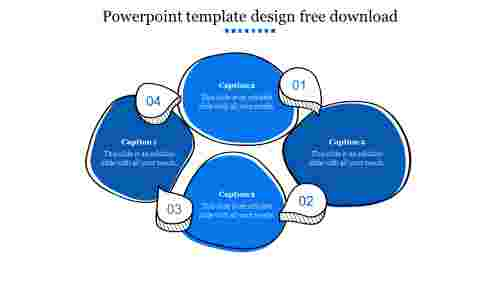 powerpoint template design free download 2019-Blue