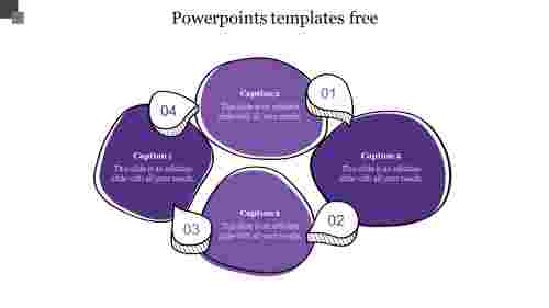 powerpoints templates free-Purple