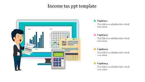Income tax ppt template
