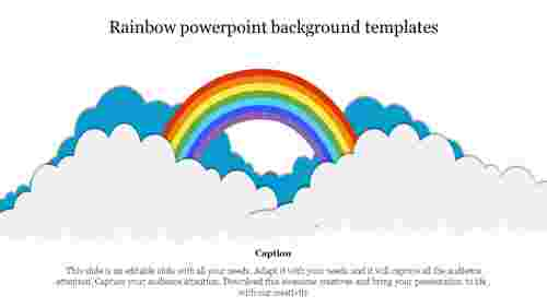 Rainbow powerpoint background templates