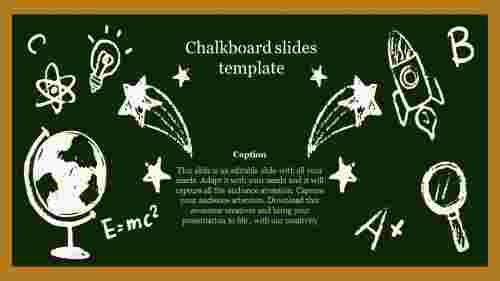 Chalkboard slides template design