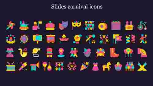 Slides carnival icons