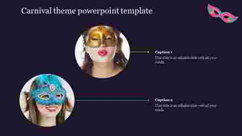 Free free Carnival theme powerpoint template slide