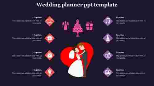 Wedding%20Planner%20PPT%20Template%20With%20Dark%20Background