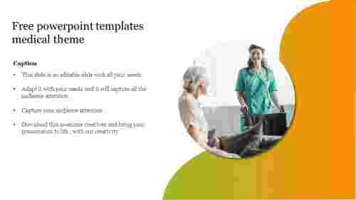 Free powerpoint templates medical theme slide