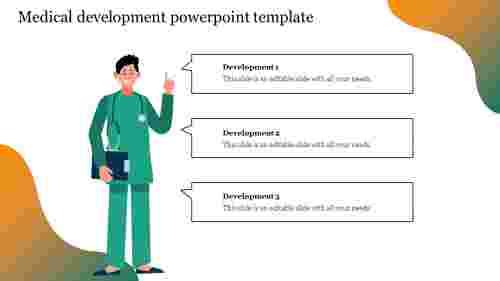Creative medical development powerpoint template