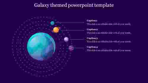 galaxy themed powerpoint template diagram
