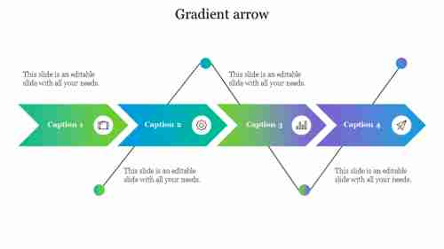 Gradient%20Arrow%20PowerPoint%20Templates%20With%20Four%20Nodes