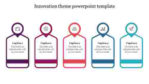 Innovation theme powerpoint template design