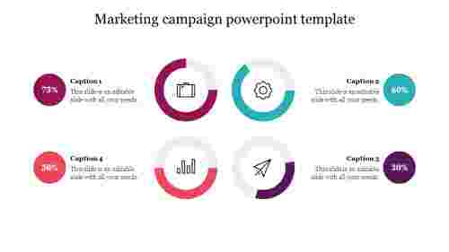 Marketing campaign powerpoint template free slide