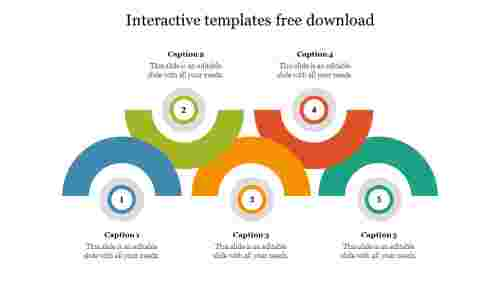 Interactivetemplatesfreedownloadwithsemicircledesign