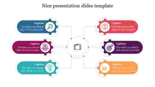 Nice presentation slides template design