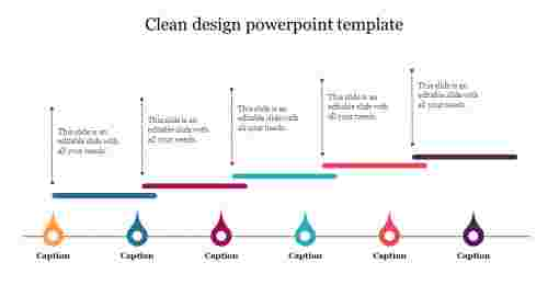 Clean design powerpoint template - Timeline Model