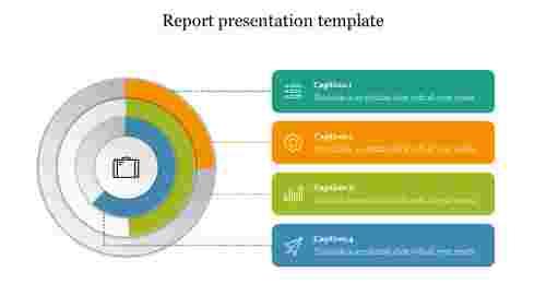 Report presentation template free slide