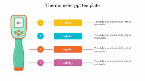 thermometer ppt template