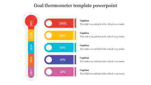 goal thermometer template powerpoint