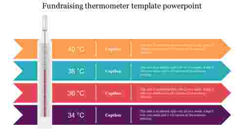 fundraising thermometer template powerpoint