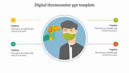 digital thermometer ppt template