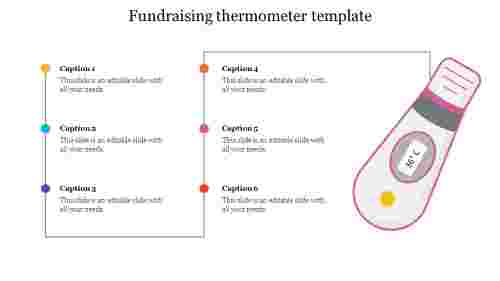 fundraising thermometer template editable powerpoint