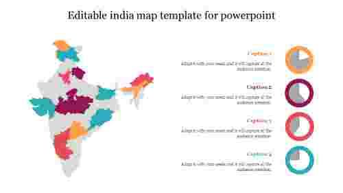 Editableindiamaptemplateforpowerpointslide
