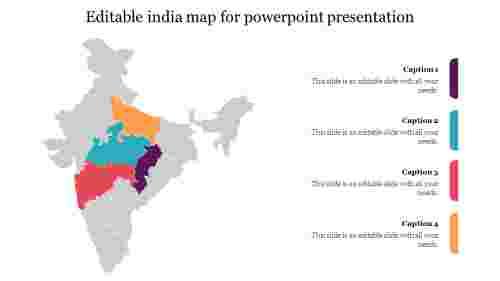 Editableindiamapforpowerpointpresentationslides
