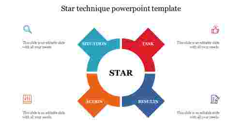 Star technique powerpoint template