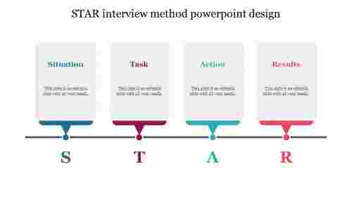STAR interview method powerpoint design
