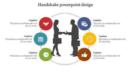 Handshake powerpoint design